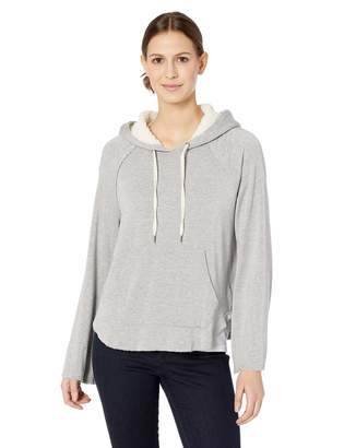 Splendid Women's Super Soft with Sherpa Hoodie Pullover Heather Grey XL