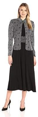 Jessica Howard Women's 3/4 Sleeve Mandarin Collar Jacket with Sleeveless Ruched Waist Dress $108 thestylecure.com