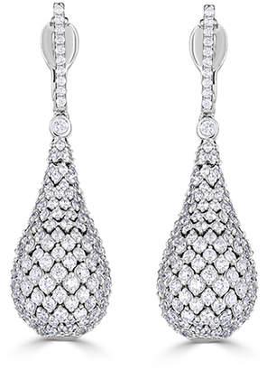 Neiman Marcus Diamonds 14k White Gold Diamond Teardrop Earrings