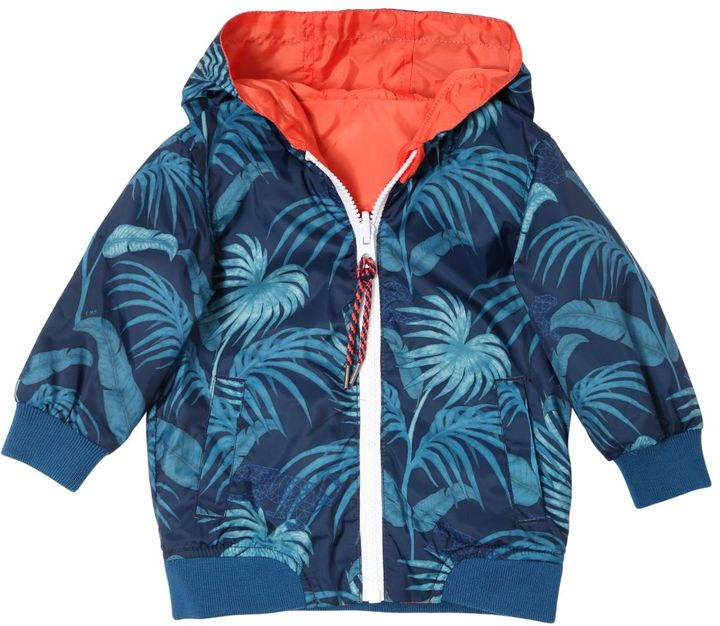 Little Marc Jacobs Reversible Jungle Printed Hooded Jacket