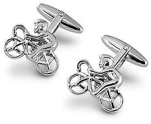 Aspinal of London Sterling Silver Cyclist Cufflinks