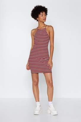 Nasty Gal Set Yourself Straight Striped Dress