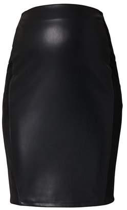 SUPERMOM High Waist Faux Leather Skirt