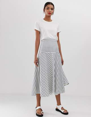 Max & Co. striped midi skirt