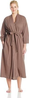 Jockey Women's Plus-Size Cotton Long Robe