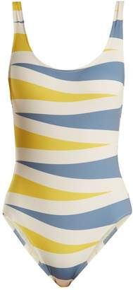 Solid & Striped The Anne-Marie backgammon-print swimsuit