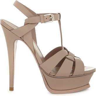 Saint Laurent Tribute patent leather heeled sandals