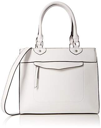 Pimkie Women's Scs18 Cabstrict Top-Handle Bag White