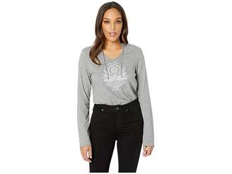 Life is Good Primal Dragonfly Long Sleeve Hooded Smoothtm Tee