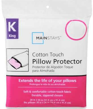 Mainstays Cotton Touch Zippered Pillow Protector