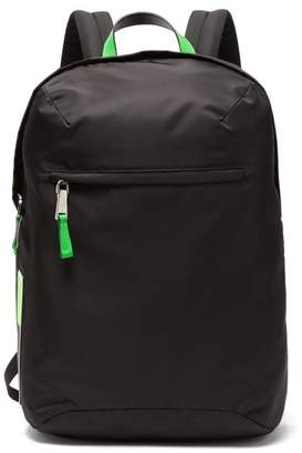 Prada Neon Trimmed Nylon Backpack - Mens - Black Green