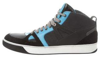 Lanvin Leather High-Top Sneakers