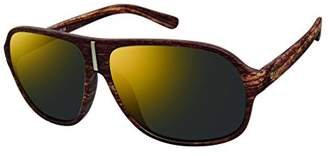 Southpole Men's 578sp-brwd Aviator Sunglasses