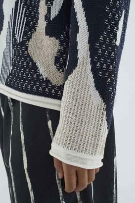 3.1 Phillip Lim Textured Jacquard Pullover