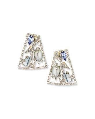 Alexis Bittar Fancy-Cut Crystal Mosaic Earrings $295 thestylecure.com
