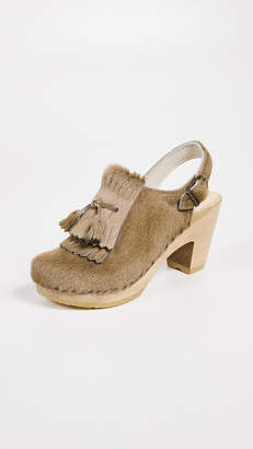 No.6 Keats Kiltie High Heel Clogs