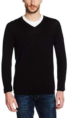 Celio Men's Fevisco Jumper, (Black), (Size: XX-Large)