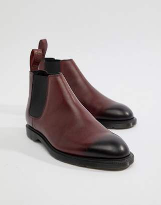Dr. Martens Wilde Temperley Boots In Cherry Red