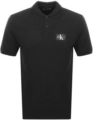 Calvin Klein Jeans Monogram Polo T Shirt Black