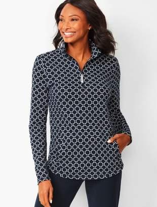 Talbots Geo-Print Cotton Pullover