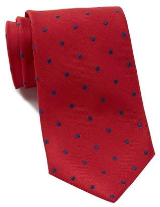Nordstrom Rack Silk Poset Dot Tie - XL Length