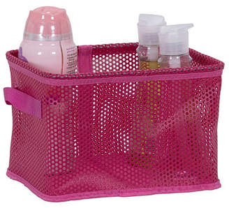 Household Essentials Eva Mesh Small Storage Basket Tote, Pink