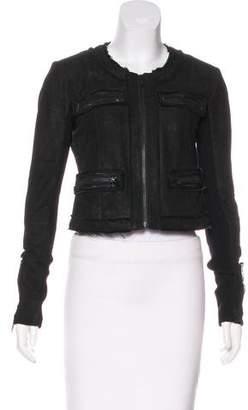 Veda Leather Embellished Jacket