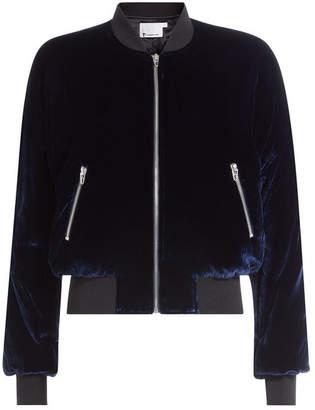 Alexander Wang Velvet Bomber Jacket with Silk