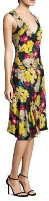 Etro Floral-Print V-Neck Dress