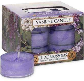 Yankee Candle Lilac Blossoms 12-Piece Tealight Candle Set