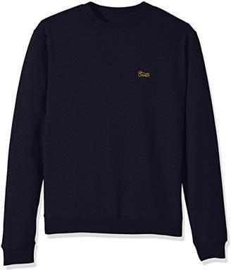 Brixton Men's Potrero Standard Fit Crew Fleece Sweatshirt