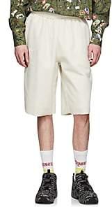 Vetements Men's Cotton-Blend Inside-Out Drop-Rise Shorts - Ivorybone