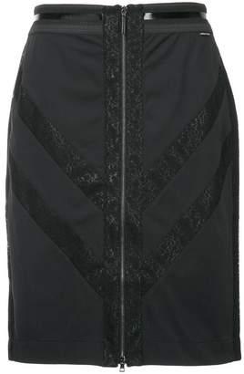 Marc Cain chevron zip front skirt
