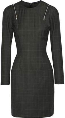 Walter W118 By Baker Wanda Zip-Detailed Checked Mini Dress