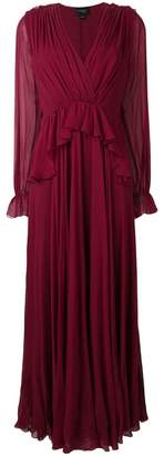 Giambattista Valli neck-tied flared dress