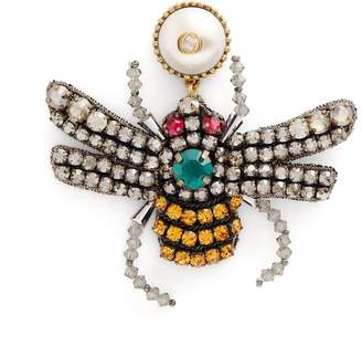 Gucci Crystal-bee earrings