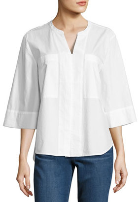 NYDJ Dillon Hidden Placket Shirt $68 thestylecure.com
