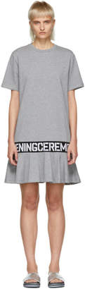 Opening Ceremony Grey Elastic Logo T-Shirt Dress
