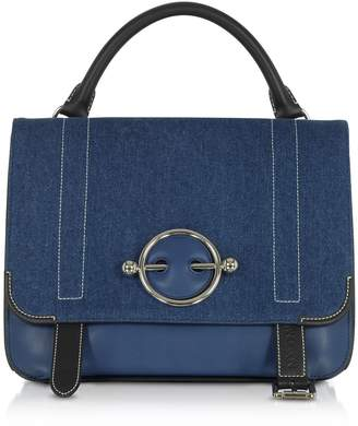J.W.Anderson Blue Navy Canvas Disc Satchel Bag