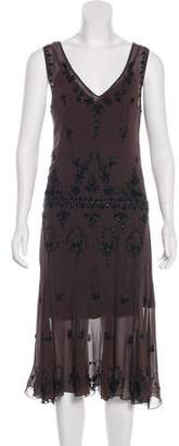 Megan Park Embellished Sleeveless Dress
