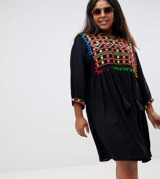 Glamorous Curve smock dress with embellishment