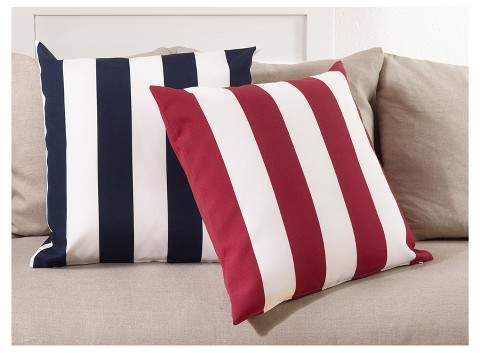 Saro Lifestyle Striped Indoor/Outdoor Pillow