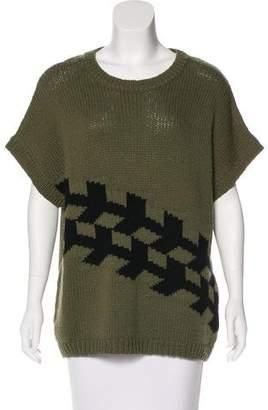Tibi Wool Intarsia Print Sweater