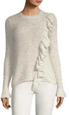 Rebecca Taylor Knit Wool-Blend Ruffle Sweater