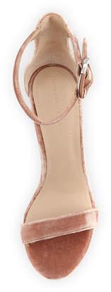 KENDALL + KYLIE Giselle Velvet High City Sandals, Blush