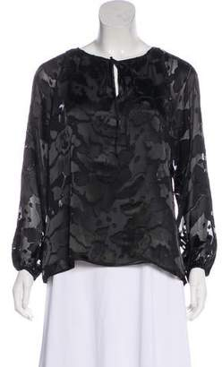 Anna Sui Woven Long Sleeve Blouse