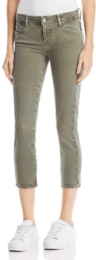 Skyline Skinny Crop Jeans in Faded Laurel Green
