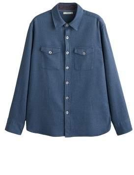 Mango Man MANGO MAN Structured cotton regular-fit shirt