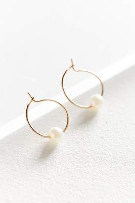Urban Outfitters Pearl Stone Hoop Earring $12 thestylecure.com
