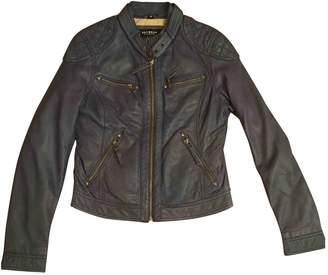 Oakwood Blue Leather Leather Jacket for Women